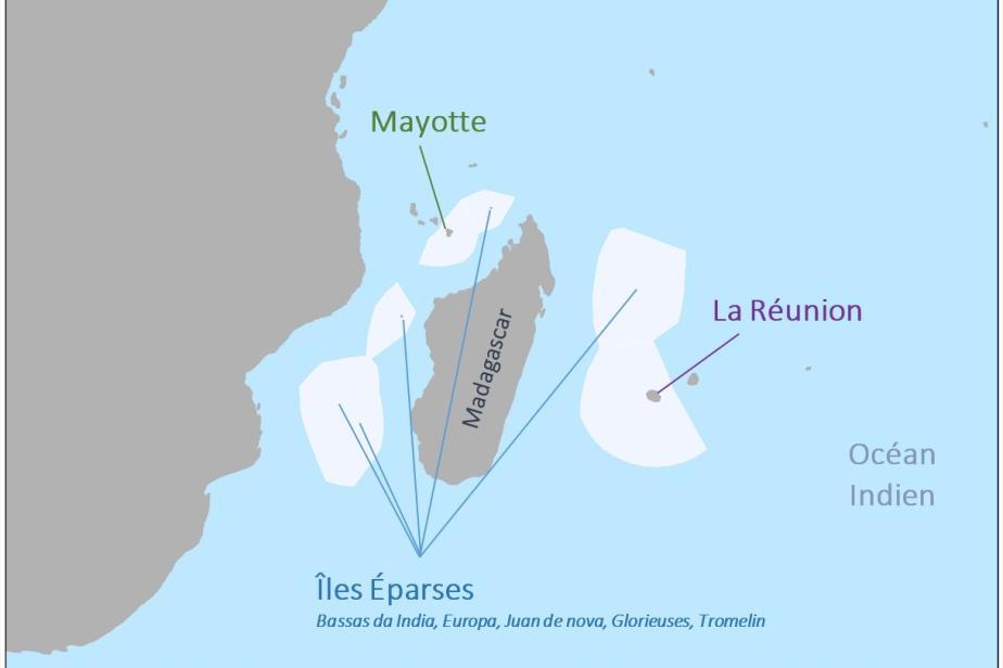 Carte de l'océan Indien