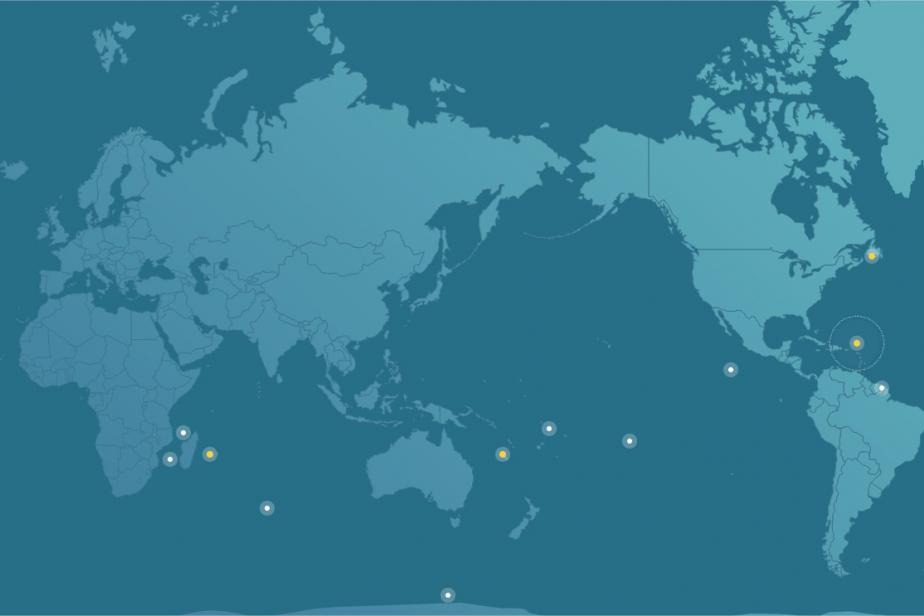 Cartes des outre-mer – Compteur Biodiversité outre-mer
